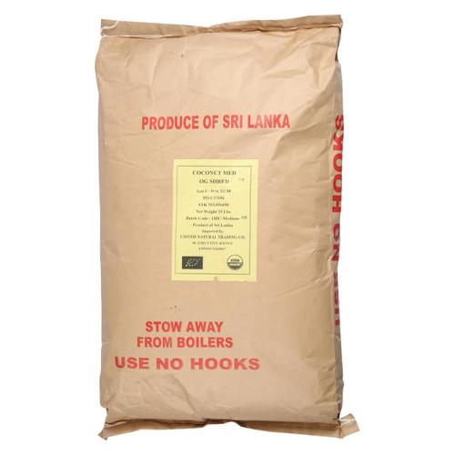Bulk Dried Fruit - Coconut - Organic - Dried - Shredded - Medium - Unsulphured - Case Of 25 Lbs