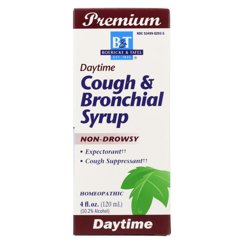 Boericke And Tafel - Cough And Bronchitis Syrup - 4 Oz