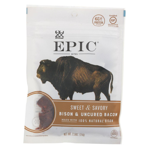 Epic - Jerky Bites - Bison Meat - Case Of 8 - 2.5 Oz.