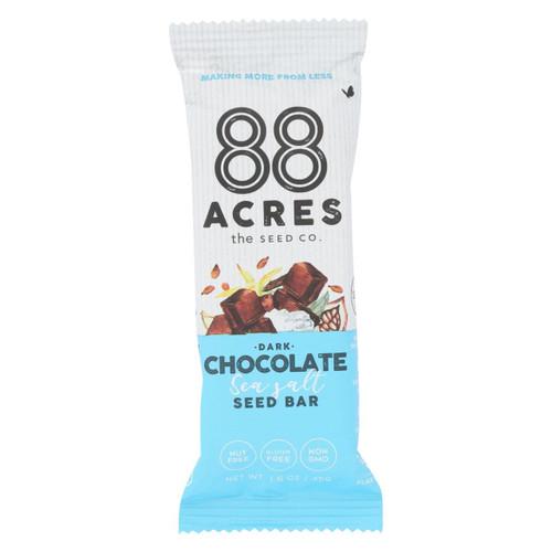88 Acres - Bars - Chocolate And Sea Salt - Case Of 9 - 1.6 Oz.