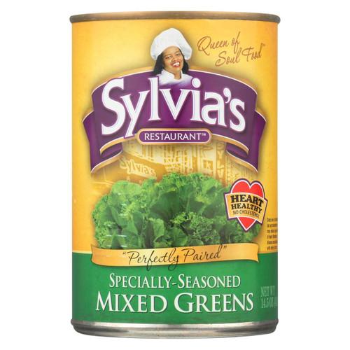 Sylvia's Mixed Greens - Case Of 12 - 14.5 Oz.