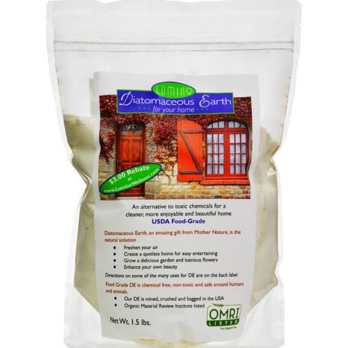 Lumino Home Diatomaceous Earth - Food Grade - Home - 1.5 Lb