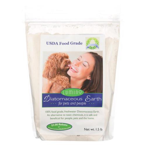 Lumino Home Diatomaceous Earth - Food Grade - Pets And People - 1.5 Lb