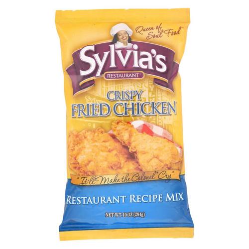 Sylvia's Crispy Fried Chicken Mix - Case Of 9 - 10 Oz.