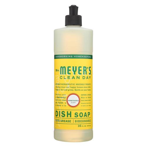 Mrs. Meyer's Clean Day - Liquid Dish Soap - Honeysuckle - Case Of 6 - 16 Oz