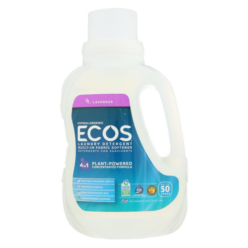 Earth Friendly 2x Ultra Laundry Detergent - Lavender - Case Of 8 - 50 Fl Oz.