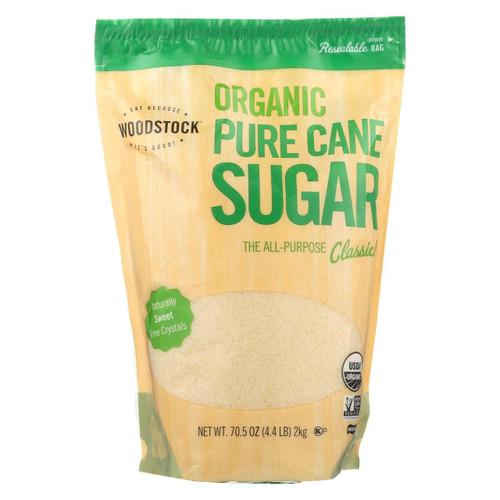 Woodstock Sugar - Organic - Pure Cane - Granulated - 4.4 Lb - Case Of 5