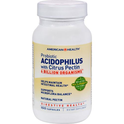 American Health - Probiotic Acidophilus With Pectin - 100 Capsules