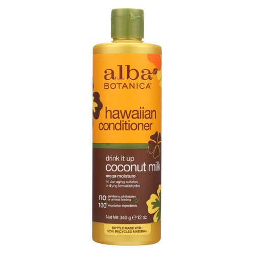 Alba Botanica - Hawaiian Hair Conditioner - Coconut Milk - 12 Fl Oz