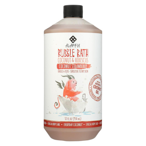 Alaffia - Everyday Bubble Bath - Coconut Strawberry - 32 Fl Oz.