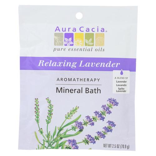 Aura Cacia Aromatherapy Mineral Bath Lavender Harvest - 2.5 Oz - Case Of 6