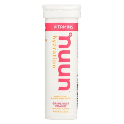 Nuun Vitamins Drink Tab - Grapefruit - Ornge - Case Of 8 - 12 Tab