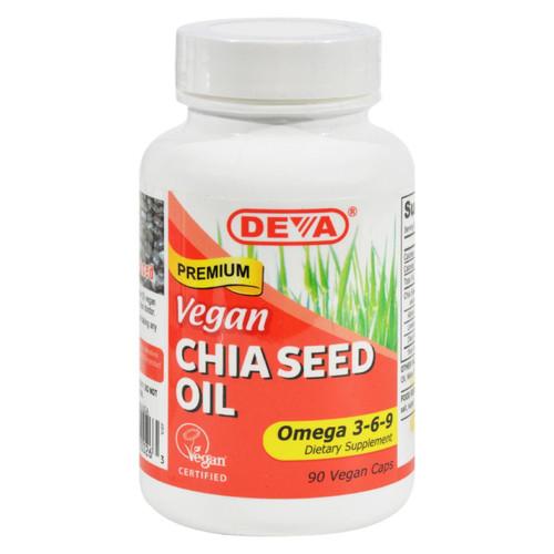 Deva Vegan Vitamins - Chia Seed Oil - 90 Vegan Capsules