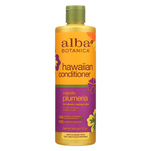 Alba Botanica - Hawaiian Hair Conditioner - Plumeria - 12 Fl Oz