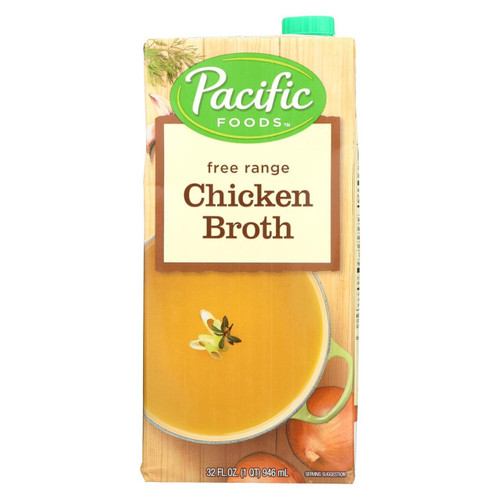 Pacific Natural Foods Chicken Broth - Free Range - Case Of 12 - 32 Fl Oz. - 0572685
