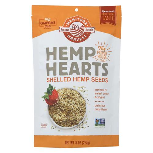 Manitoba Harvest Shelled Hemp Hearts Hemp Seed - Case Of 8 - 8 Oz