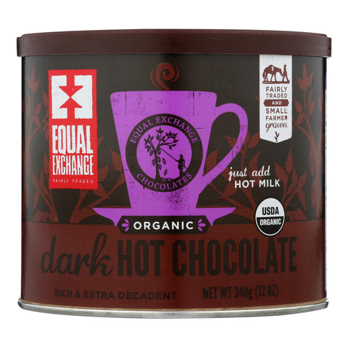 Equal Exchange Hot Chocolate - Organic - Dark - Case Of 6 - 12 Oz