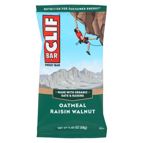Clif Bar - Organic Oat Raisin Walnut - Case Of 12 - 2.4 Oz