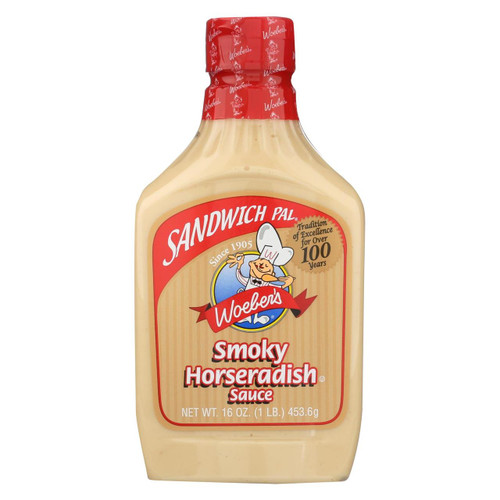 Woeber's Sandwich Pal Smoky Horseradish Sauce - Case Of 6 - 16 Fl Oz.