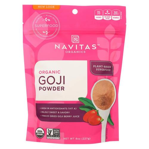 Navitas Naturals Goji Berry Powder - Organic - Freeze-dried - 8 Oz - Case Of 12