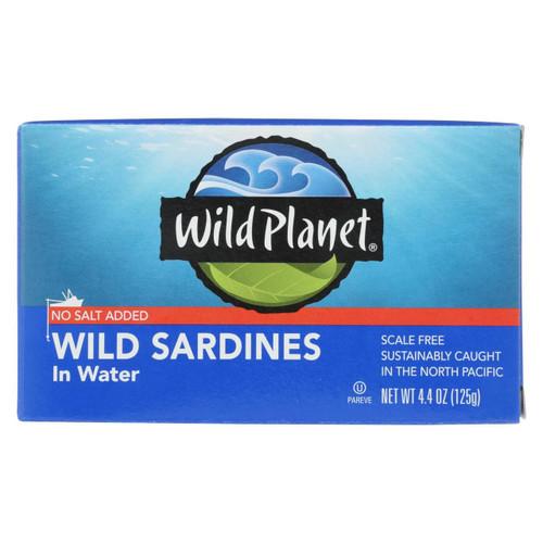 Wild Planet Sardines In Water - Case Of 12 - 4.375 Oz.