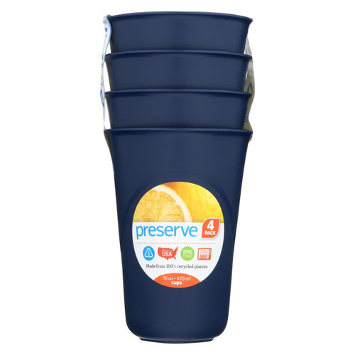 Preserve Everyday Cups - Midnight Blue - Case Of 8 - 4 Packs - 0486076