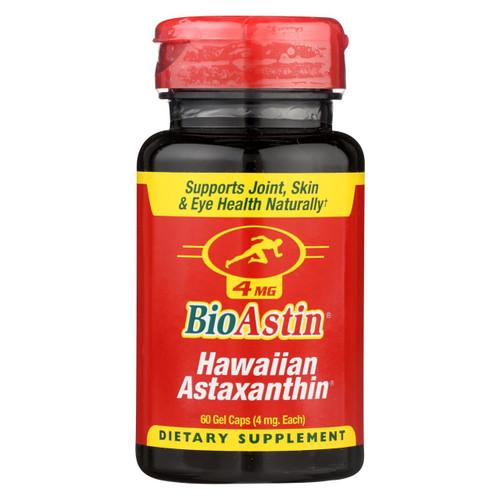 Nutrex Hawaii Bioastin Natural Astaxanthin - 4 Mg - 60 Gelatin Capsules