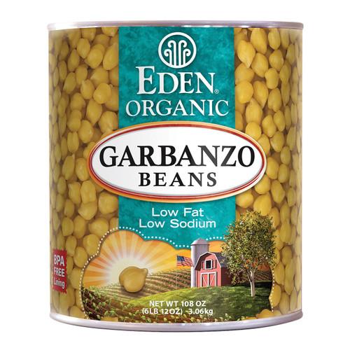 Eden Foods Organic Garbanzo Bean - Case Of 6 - 108 Oz.