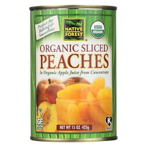 Native Forest Organic Sliced - Peaches - Case Of 6 - 15 Oz.