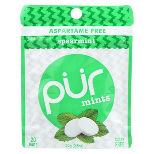 Pur Mint Mints - Spearmint - Case Of 12 - 22 Gram