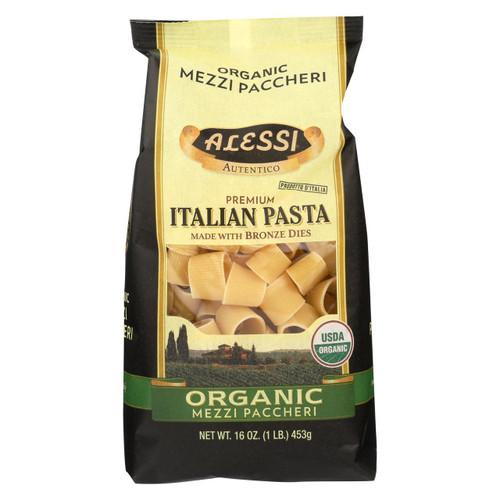 Alessi - Premium Italian Pasta - Organic Mezzi Paccheri - Case Of 6 - 16 Oz.