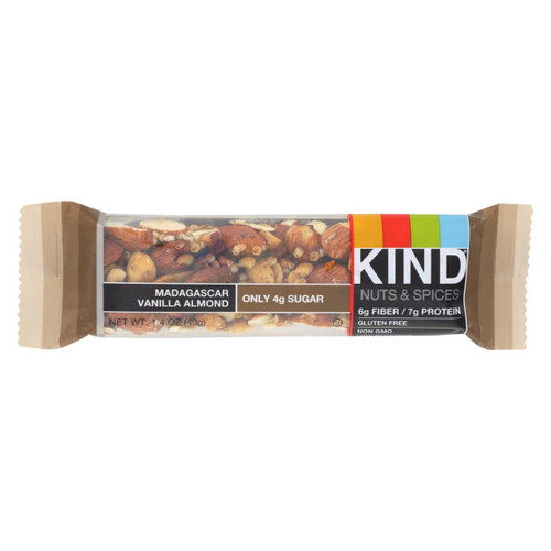 Kind Bar - Madagascar Vanilla Almond - 1.4 Oz Bars - Case Of 12