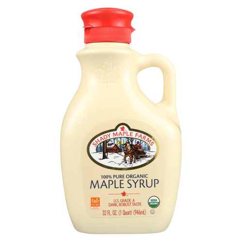 Shady Maple Farms 100 Percent Pure Organic Maple Syrup - Case Of 6 - 32 Fl Oz. - 0234799