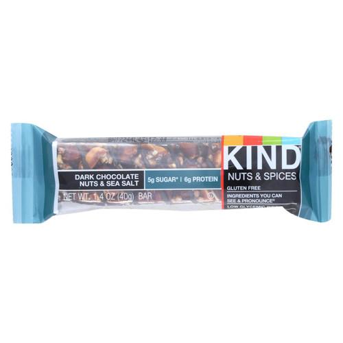 Kind Fruit And Nut Bars - Dark Chocolate Nuts And Sea Salt - 1.4 Oz - Case Of 12