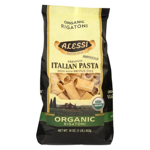 Alessi - Premium Italian Pasta - Organic Rigatoni - Case Of 6 - 16 Oz.