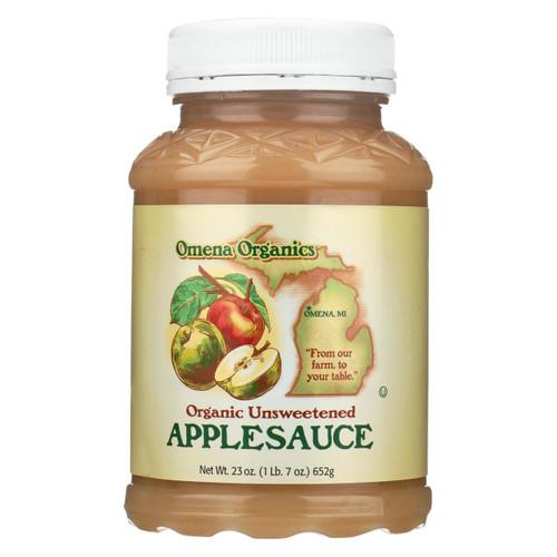Omena Organics Apple Sauce - Organic - Unsweetend - Case Of 12 - 23 Oz