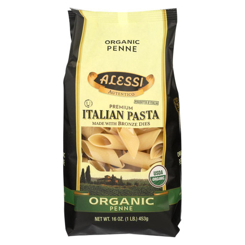 Alessi - Premium Italian Pasta - Organic Penne - Case Of 6 - 16 Oz.