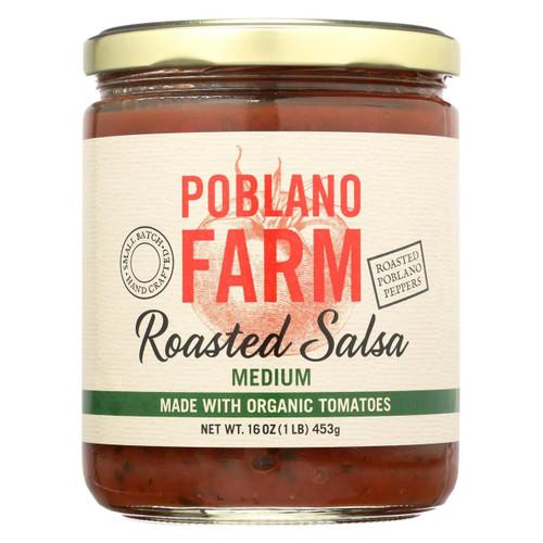 Poblano Farm - Roasted Salsa - Medium Heat - Case Of 12 - 16 Oz.