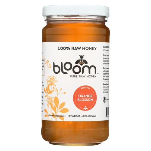 Bloom Honey - Honey - Orange Blossom - Case Of 6 - 16 Oz.