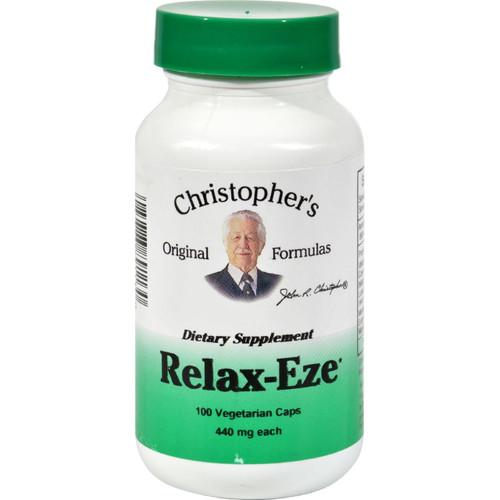 Dr. Christopher's Formulas Christopher's Original Formulas, Relax-eze, 440 Mg Each, 100 Veggie Caps - 100 Vcaps
