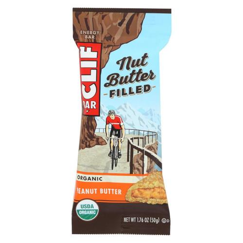 Clif Bar Organic Nut Butter Filled Energy Bar - Peanut Butter - Case Of 12 - 1.76 Oz.