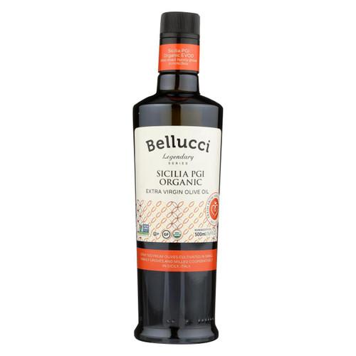 Bellucci Premium Olive Oil - Extra Virgin Sicilia Pgi Organic - Case Of 6 - 500 Ml
