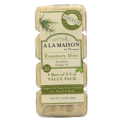 A La Maison - Bar Soap - Rosemary Mint - Value 4 Pack