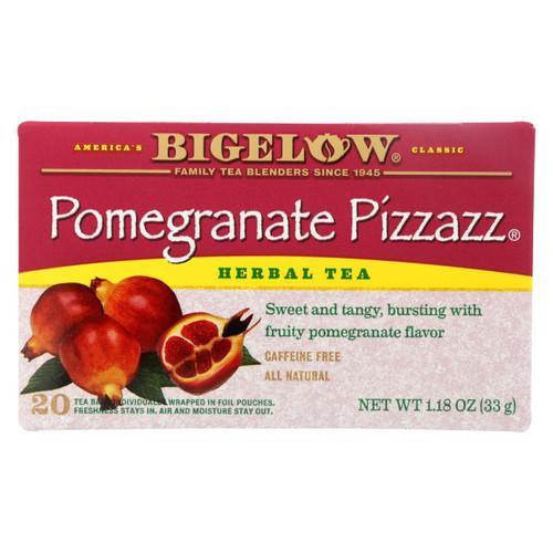 Bigelow Tea Herbal Tea - Pomegranate Pizzazz - Case Of 6 - 20 Bag