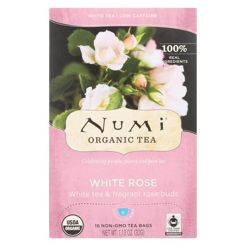 Numi Tea White Tea - White Rose - Case Of 6 - 16 Bags - 0882290