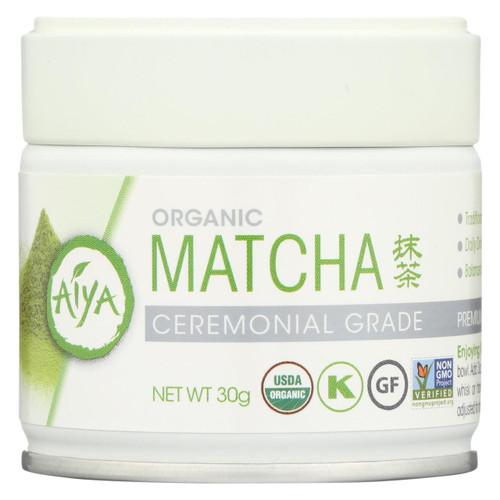 Aiya Tea - Organic Matcha - Ceremonial Grade - Case Of 6 - 30 Grm