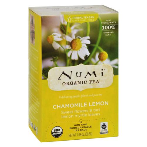 Numi Organic Tea Caffeine Free Chamomile Lemon - 18 Tea Bags - Case Of 6