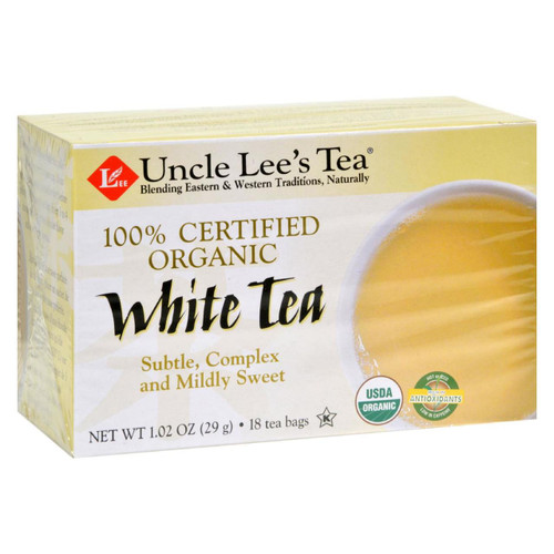Uncle Lee's Tea 100% Certified Organic White Tea - Case Of 6 - 18 Bag - 0444398