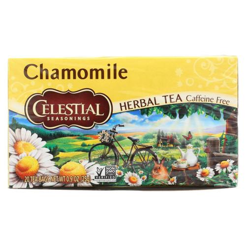 Celestial Seasonings Herbal Tea - Chamomile - Caffeine Free - Case Of 6 - 20 Bags