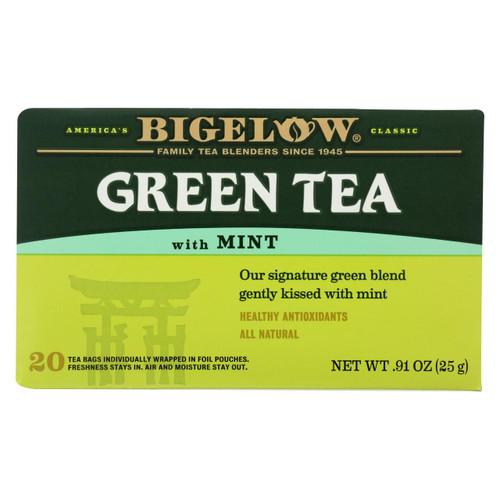 Bigelow Tea Green Tea - With Mint - Case Of 6 - 20 Bag